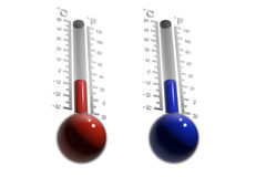 Glass thermometer thermometer. Stock Photography