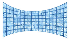 Glass tile widescreen Royalty Free Stock Images