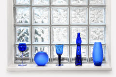 Glass tile window arrangement Royalty Free Stock Images