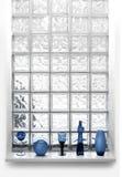 Glass tile window vert Stock Photography