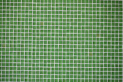 Glass tiles green mosaic Stock Image