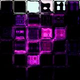 Glass tiles purple black white background Stock Photos