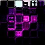 Glass tiles purple black white background Stock Photos