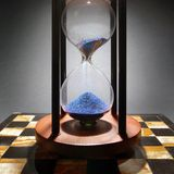 glass timme Royaltyfri Bild