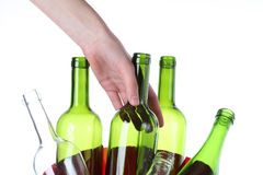 Glass to recycling Stock Photography