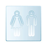 Glass toilet symbols Stock Photography