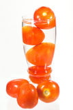 Glass of tomato. Fresh Tomato in a glass Royalty Free Stock Photography