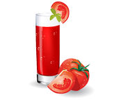 Glass of tomato juice Royalty Free Stock Photos