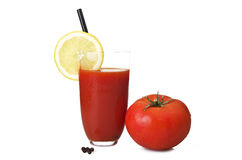 Glass with Tomato juice Royalty Free Stock Photo