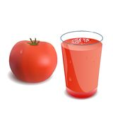 A glass of tomato juice Royalty Free Stock Image