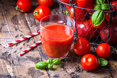 Glass of tomato juice Royalty Free Stock Images