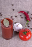 Glass of tomato juice Royalty Free Stock Photography