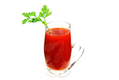 A glass of tomato juice. Stock Images