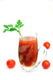 A glass of tomato juice. Royalty Free Stock Photos