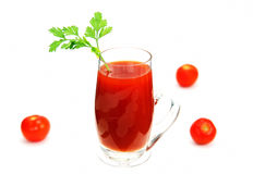 A glass of tomato juice. Stock Photography