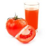 Glass of tomato juice isolated on white Stock Image