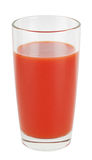 Glass of tomato juice Stock Photography