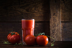 A glass of tomato juice. Studio Shot Royalty Free Stock Photography