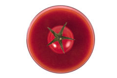 Glass of tomato juice Stock Photography
