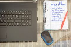 Advantages of the Home Office in an office workstation royalty free stock photography