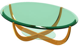 Glass topped living room table Stock Image