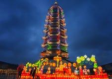 Glass torn för stor Buddhatempel Royaltyfria Foton