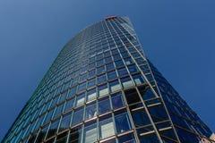 Glass torn på Potsdamer Platz i Berlin, Tyskland Arkivbild
