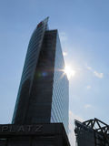 Glass Tower at Potsdamer Platz in Berlin, Germany. Stock Photo
