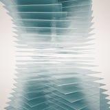 Glass Tower twist background Stock Photo