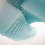Glass Tower twist background Stock Photography