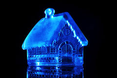 Glass toy house Royalty Free Stock Photography