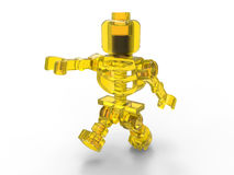 Glass toy skeleton Royalty Free Stock Image