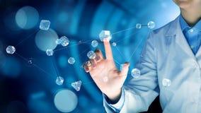 Glass trådlöst anslutningsbegrepp Arkivbild
