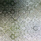 Glass traditional thai style texture decorated Stock Photos