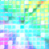 Glass translucent cubes background glowing Stock Photo