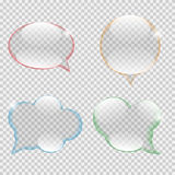 Glass Transparency Speech Bubble Vector Stock Photos
