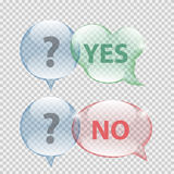Glass Transparency Speech Bubble Vector. Illustration EPS10 Royalty Free Stock Photo