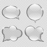 Glass Transparency Speech Bubble Vector. Illustration EPS10 Stock Images