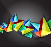 Glass transparent pyramid background Royalty Free Stock Photo