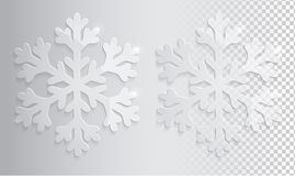 Glass transparent snowflake. Royalty Free Stock Photography