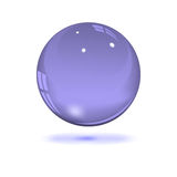 Glass transparent sphere. On white, vector illustration Royalty Free Stock Images