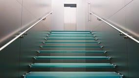Glass trappa som leder upp royaltyfri foto