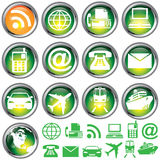 Glass Travel Buttons Stock Photography