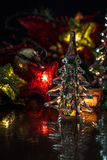 Glass Tree Holiday Background Royalty Free Stock Image