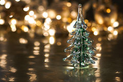 Glass Tree Holiday Background Stock Photos