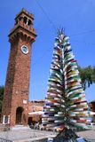 Glass Tree in Murano Island. Colorful glass tree in Murano Island in Venice, Italy Royalty Free Stock Photo