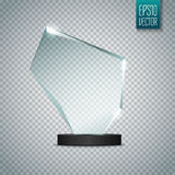 Glass Trophy Award. Vector illustration  on transparent background Royalty Free Stock Images