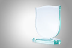 Glass trophy Royalty Free Stock Photos