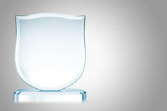 Glass trophy Stock Photography