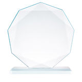 Glass trophy Royalty Free Stock Image